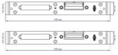 Ответная планка VORNE под замок для двери из ПВХ профиля