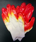 Перчатки строительные 2-я заливка латекса